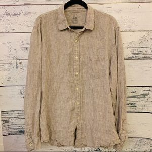 J CREW IRISH LINEN BUTTON DOWN SHIRT LADIES SZ XL